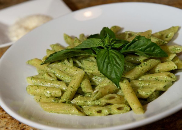 Penne al pesto Olivier Bearzatto